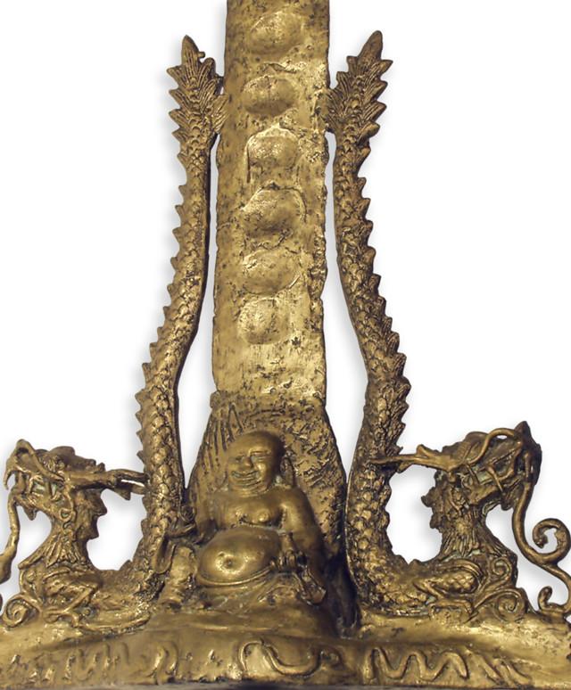 Antique Keris Buddha and Dragon Blade Guard Ornamentation