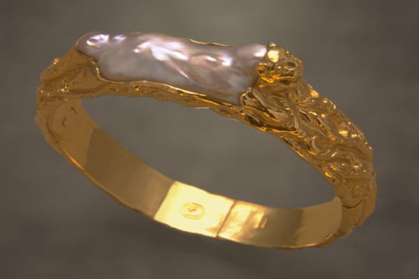 Fine Art Jewelry featuring a Golden Tiger Pearl Bracelet Photo by Zoein Jewels designer Shunyata