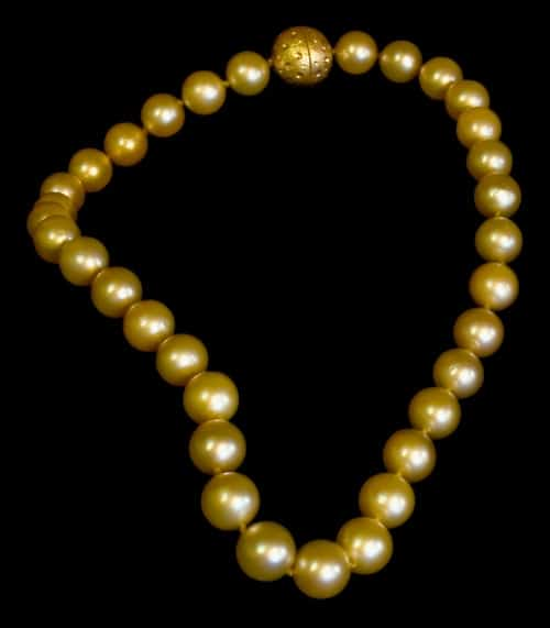 Golden String of Pearls a simply elegant addition to any fine art jewelry collection