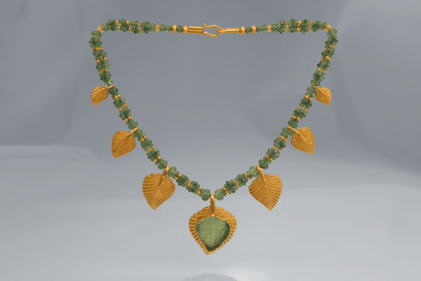 Emerald Leaf Necklace—Zoein Jewels Symbol Jewelry
