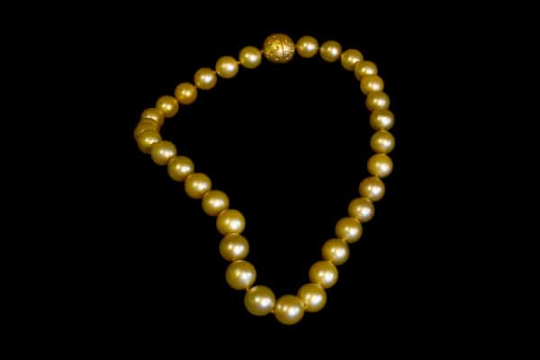 Strand of Golden South Sea Pearls