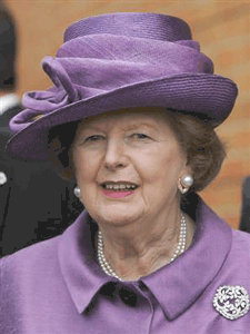 Margaret Thatcher Pictured wearing her favorite jewelry — Fine Art jewelry Brooches