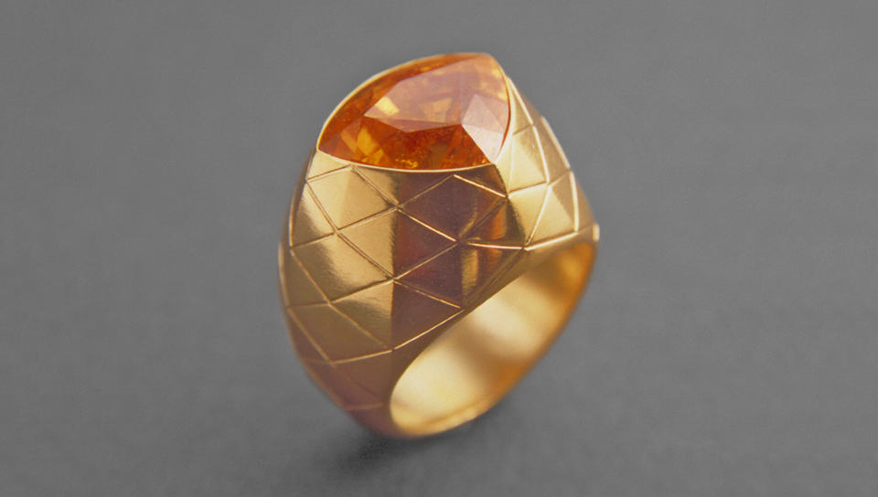 Mandarin Garnet Ring Fine Art Jewelry by Zoein Jewels